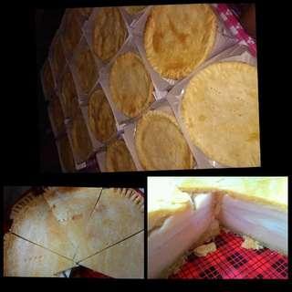 Heart shaped caked , buko pie