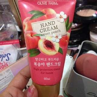 Olive farm peach hand cream