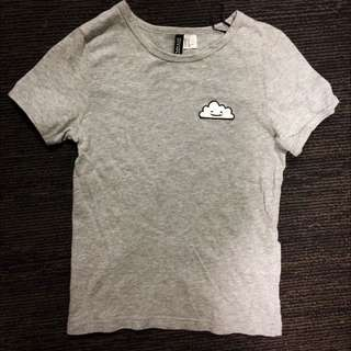 Gray Cloud Patch Shirt