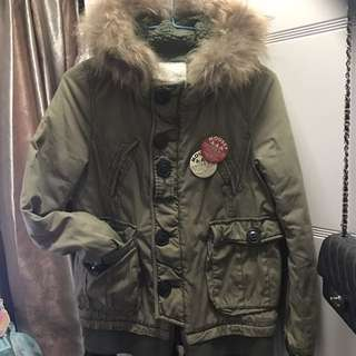 MOUSSY military jacket 毛毛夾綿軍褸