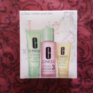 BRAND NEW Authentic Clinique 3-Step Skincare System