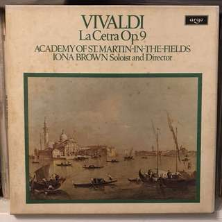 Vivaldi La Cetra Iona Brown ARGO D99D 3-LP box set