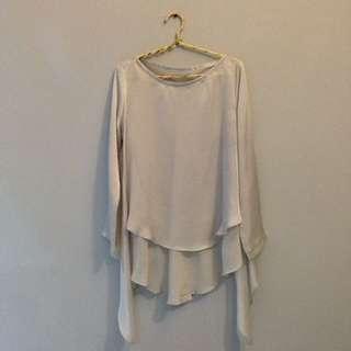 NO BRAND grey blouse
