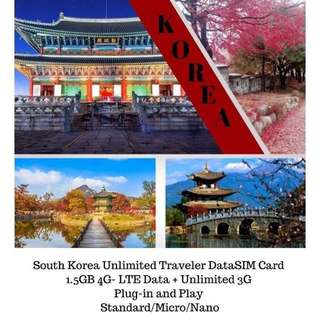 Unli Data Sim - South Korea
