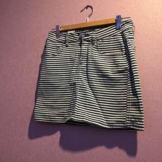 Wrangler Striped Skirt Size 10 AU
