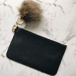 Zara Flat Clutch Black