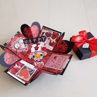 Valentine's Day Handmade Explosion Box Card
