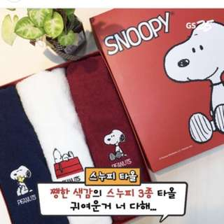 [PO] GS25 Snoopy Towel Set