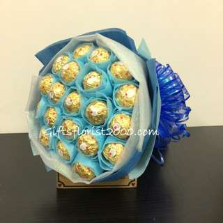 Ferrero Rocher 20 Piece In Blue-Chocolate Bouquet 2