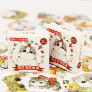 80pc Cat Stickers 🐱✨