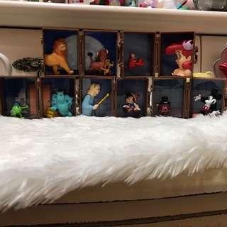 全新 行李箱扭蛋 美人魚 小木偶 全套5件