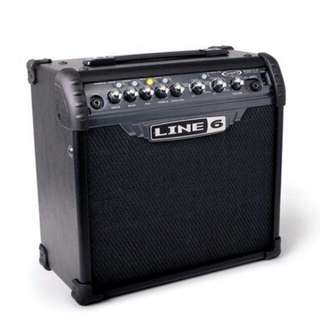 Line 6  ( 3 lll )15 watts 8 inch guitar amplifier amp