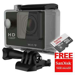 Action camera 1080p wifi