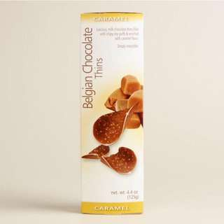 Belgian Chocolate Thins - Caramel