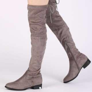 Public desire 'joy' inspired thigh / knee high boots
