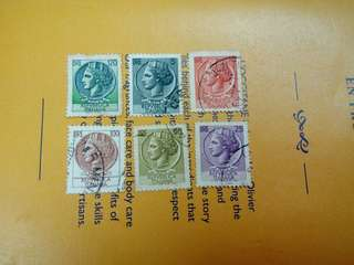 Italy Vintage Definitive Stamps Used