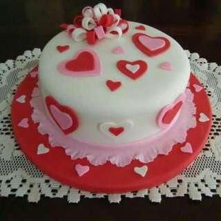 Hearts Chocolate Cake