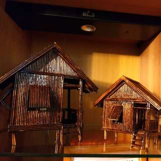 Traditional model stilted houses made (charity craft)