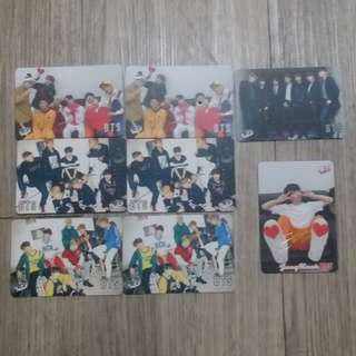 BTS 白卡1元1張 簽卡2元1張