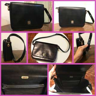 Givenchy All Leather Long Shoulder Bag Black