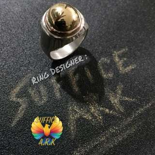 Facelifted 3 : Besi Kuning Asli with 925 Silver Ring & Rose Gold Tip. (Sekadar Berkongsi)