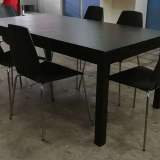 (RESERVED) IKEA Extendable Table + 6 Chairs
