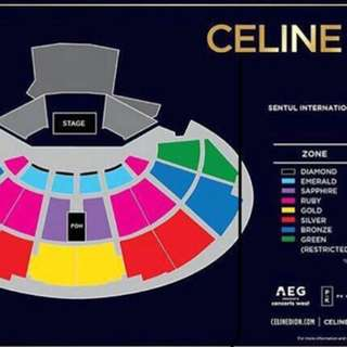 Celine Dion Tikets💙 Chat Bagi yg minat☺️