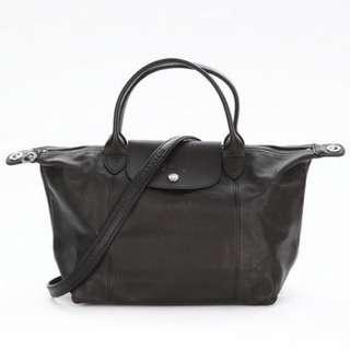降!!Longchamp小羊皮s號黑色