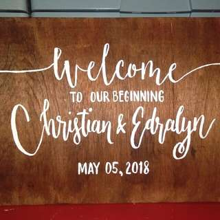 Wedding Lettering/Calligraphy