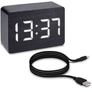 KW mobile - Digital alarm clock, thermometer, white LED light & touch screen