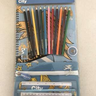 Man City stationery set from the UK
