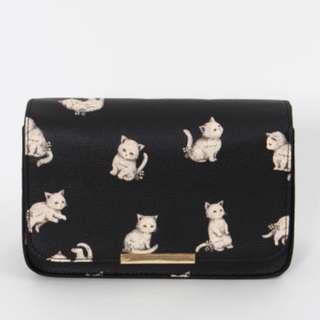 【預購】日本 franche lippee 品牌 森林系 貓咪 兔子 動物 側背包