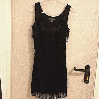Flapper sexy dress sequin fringes