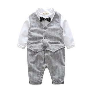 Little Gentlemen Romper for Baby Boy (In-stock)