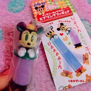 🔆特價中🔆Yujin 絕版Disney 米妮 彈簧造型吊飾 扭蛋