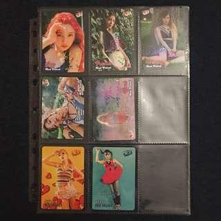 (1套7張) Yes card Red Velvet 5彩簽+2銀簽