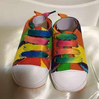 BN Baby Prewalker Rainbow Shoes