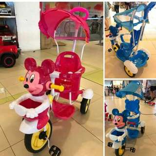 Mickey and Minnie stroller