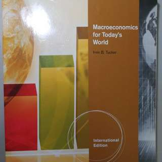Macroeconomics for today's world, Irvin B. Tucker