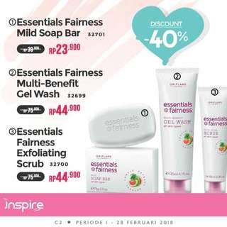 Essentials fairness gel wash