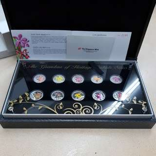 First series The Grandeur of Heritage Orchids Coin Set