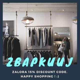 Zalora 15% Discount Code