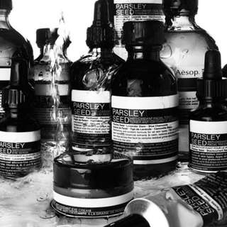 Aesop skin and hair products