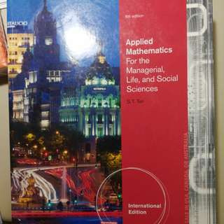 Applied mathematics for managerial, life and social sciences