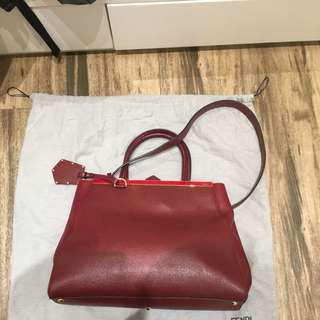 Fendi Du Jours Red Bag