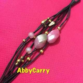👍🏽 泰國 黑色 創作手工編織手繩 型格獨特 多款易襯衫 獨立包裝 送禮自用皆宜 (粉紅)