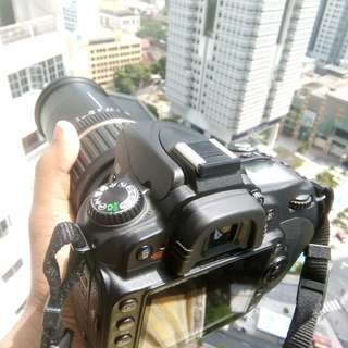 Nikon D90 with 18-200mm