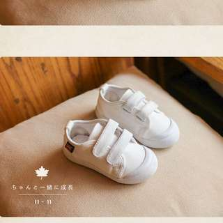 Toddler white canvas shoes