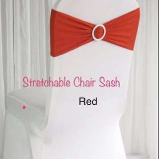 Red expandable sash - for rent