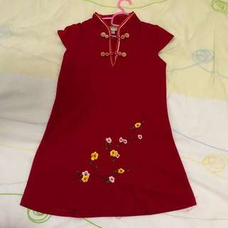 REDUCED Price:: Red cny dress Chinese New Year girl dress